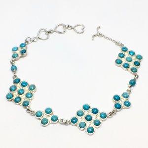 Jay King Sterling Silver & Turquoise Bracelet